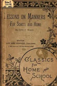 Lessons on Manners by Edith E. Wiggin