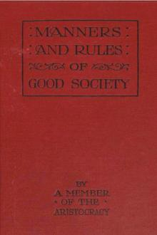Manners and Rules of Good Society by Anonymous