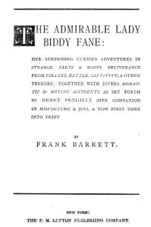 The Admirable Lady Biddy Fane by Frank Barrett