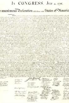 United States Declaration of Independence by Unknown